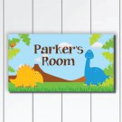 Personalized Kids Door Sign Plaque, Dinosaurs Nursery Wall Decor