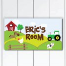 Personalized Nursery Door Sign Plaque, Life in Farm, Nursery Wall Decor