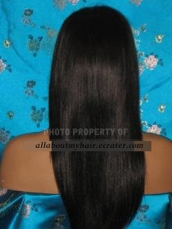 "12"" STRAIGHT LACE WIG"