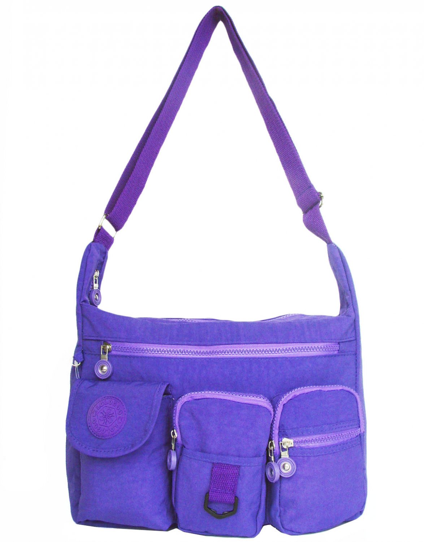 HONG YE Pure Stripe Slouch Bag,sku:hb75blue1