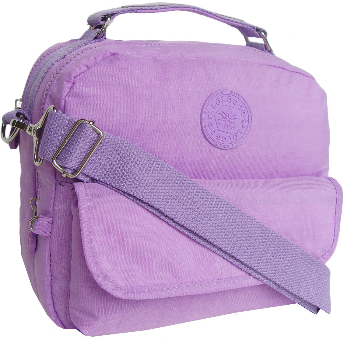 HONG YE Pure Stripe Slouch Bag,sku:hb76lightpurple3