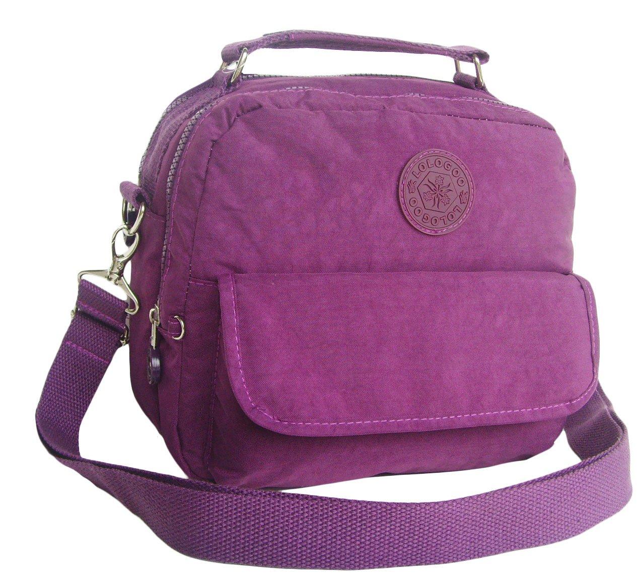 HONG YE Pure Stripe Slouch Bag,sku:hb76purple4