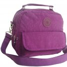 HONG YE Pure Stripe Slouch Bag,sku:hb76purple4