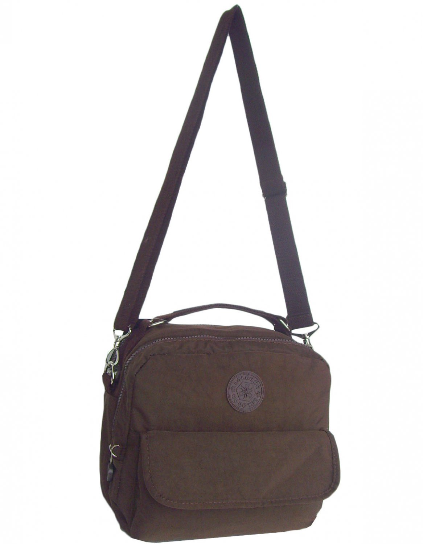 HONG YE Pure Stripe Slouch Bag,sku:hb76brown5