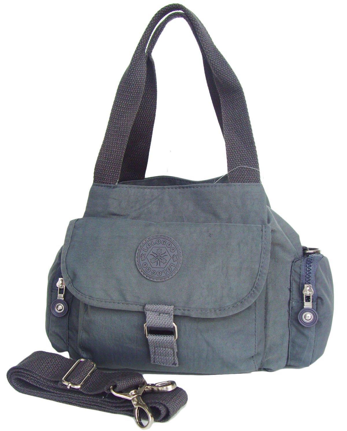 HONG YE Pure Stripe Slouch Bag,sku:hb077grey2