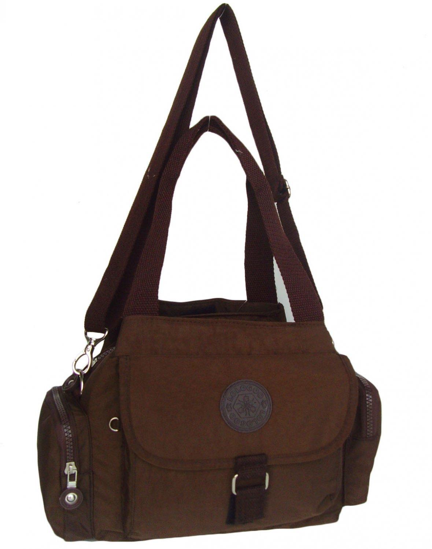 HONG YE Pure Stripe Slouch Bag,sku:hb77brown6