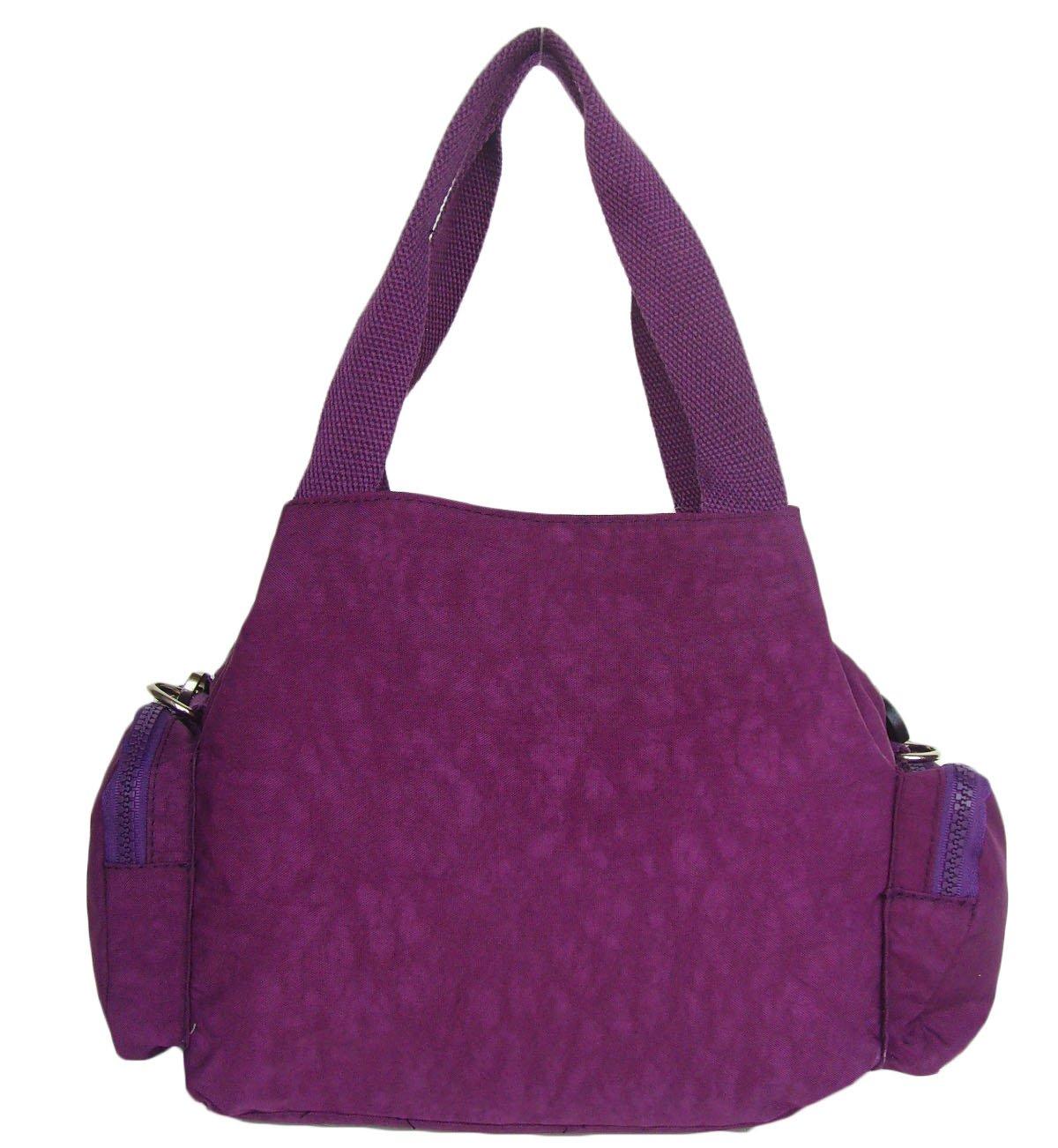 HONG YE Pure Stripe Slouch Bag,sku:hb77purple7