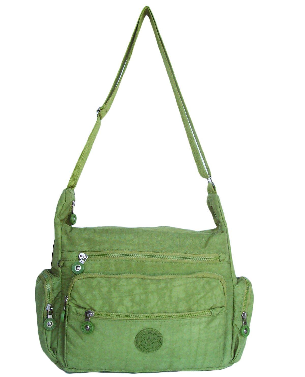 HONG YE Pure Stripe Slouch Bag,sku:hb78green4