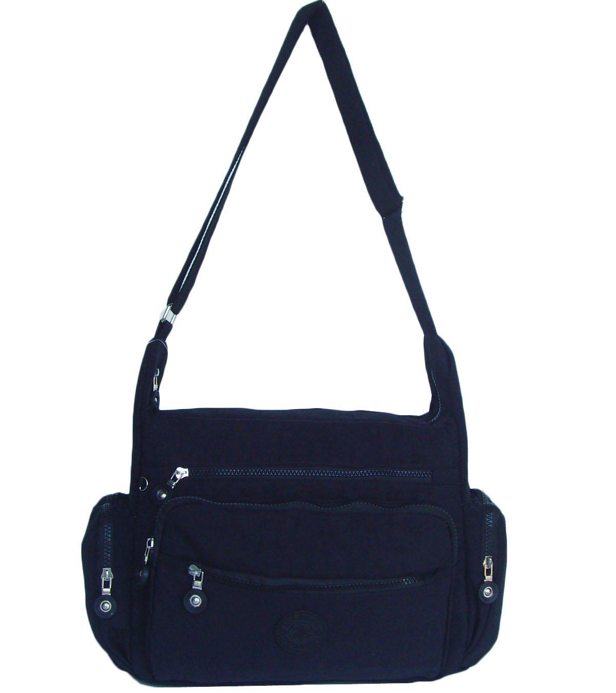 HONG YE Pure Stripe Slouch Bag,sku:hb78black5