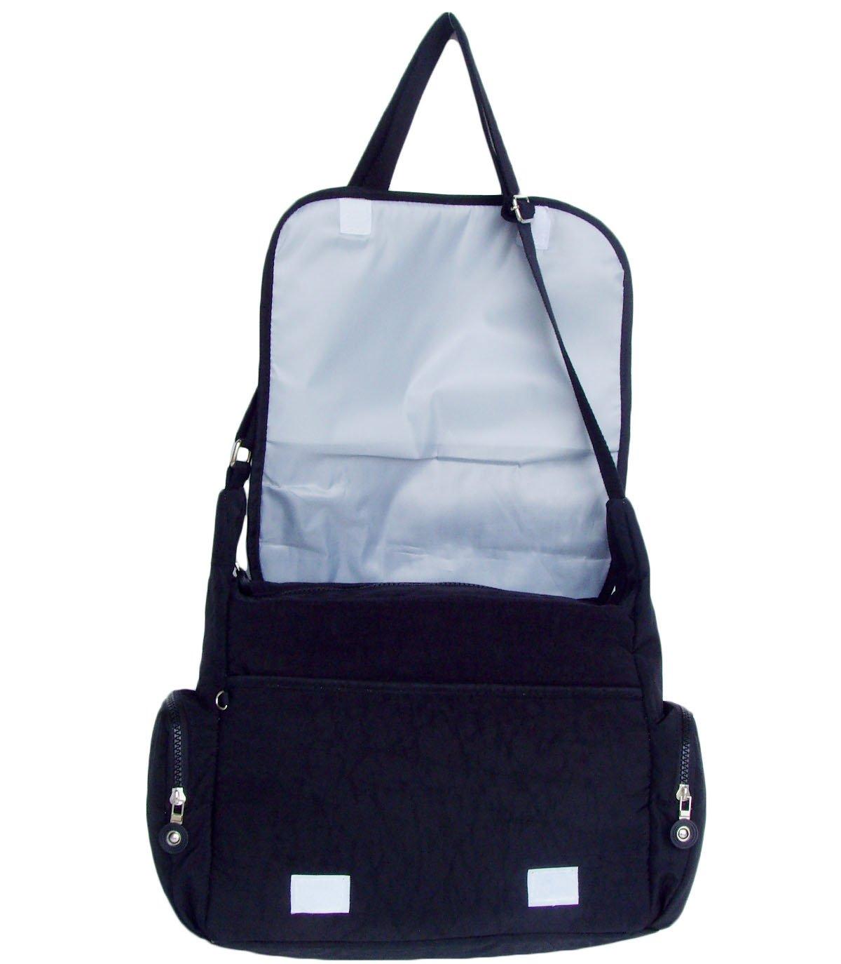 HONG YE Pure Stripe Slouch Bag,sku:hb79black5