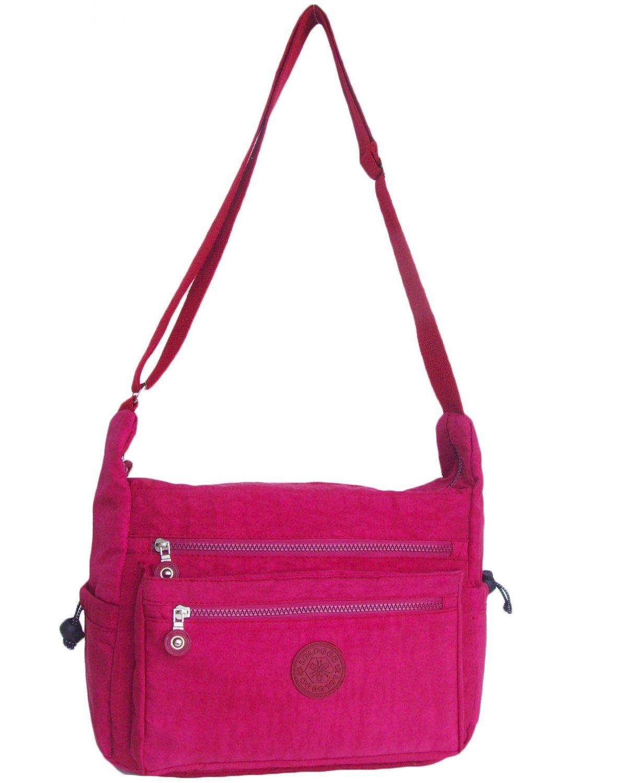 HONG YE Pure Stripe Slouch Bag,sku:hb80red2