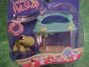 Littlest Pet Shop TURTLE and CARRIER CASE/CAGE NIP