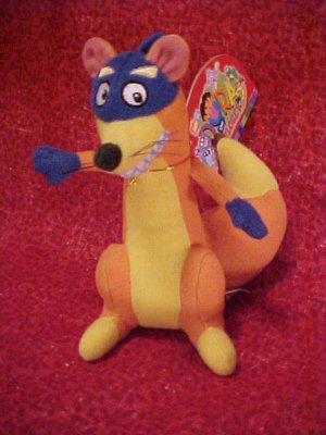 Dora The Explorer SWIPER Plush Gund Beenie 5.5in NWT
