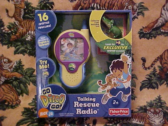 Dora The Explorer GO DIEGO GO Talking Rescue Radio NIB