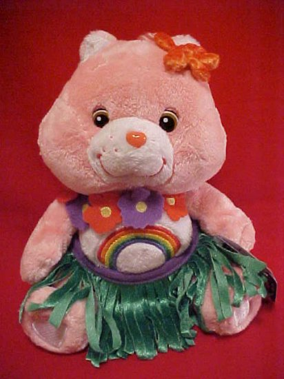 Care Bears CHEER BEAR Hula Skirt Plush 10in. NWT