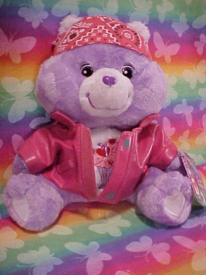 Care Bears BIKER SHARE BEAR Plush 10in. NWT