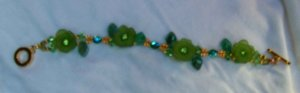 Swarovski crystal and silver bracelet