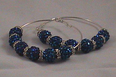 """Basketball Wives  Inspired earrings """"Royal Glam"""""""