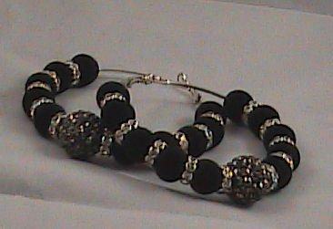 """Basketball Wives Inspired earrings """"Black Velvet"""""""