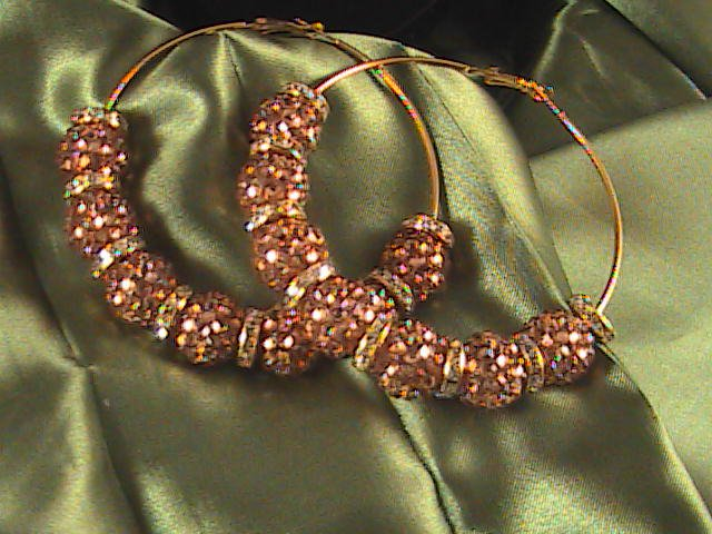 "Basketball Wives Celebrity Inspired Hoops  ""Glitz & Glam"""