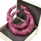 Pink Crystal Bamboo Earring
