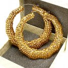 Gold Crystal Bamboo Earring