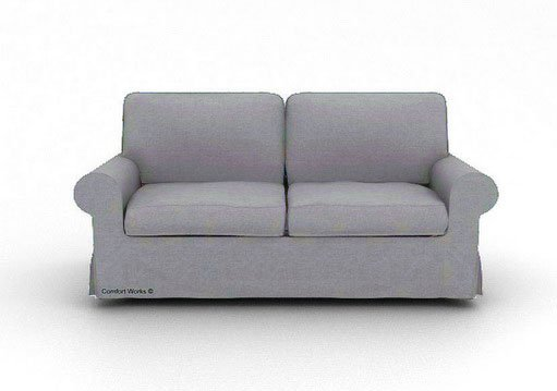 ikea ektorp 3 seater sofa custom slipcover in kino ash. Black Bedroom Furniture Sets. Home Design Ideas