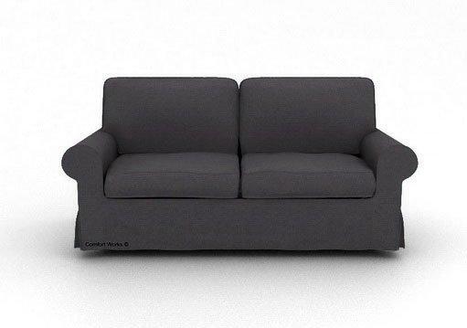 ikea ektorp 3 seater sofa custom slipcover in kino charcoal. Black Bedroom Furniture Sets. Home Design Ideas