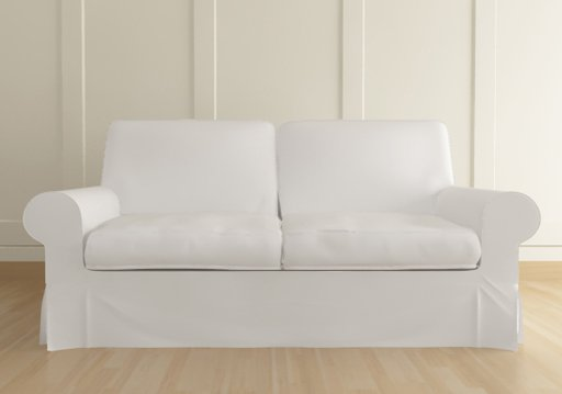 Ikea ektorp 3 seater sofa custom slipcover in kino white White loveseat slipcovers