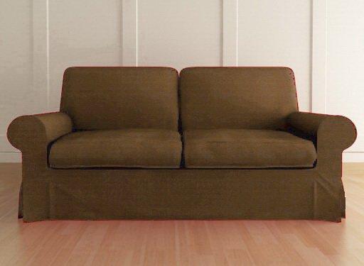 ikea ektorp 3 custom seater sofa slipcover in kino taupel. Black Bedroom Furniture Sets. Home Design Ideas