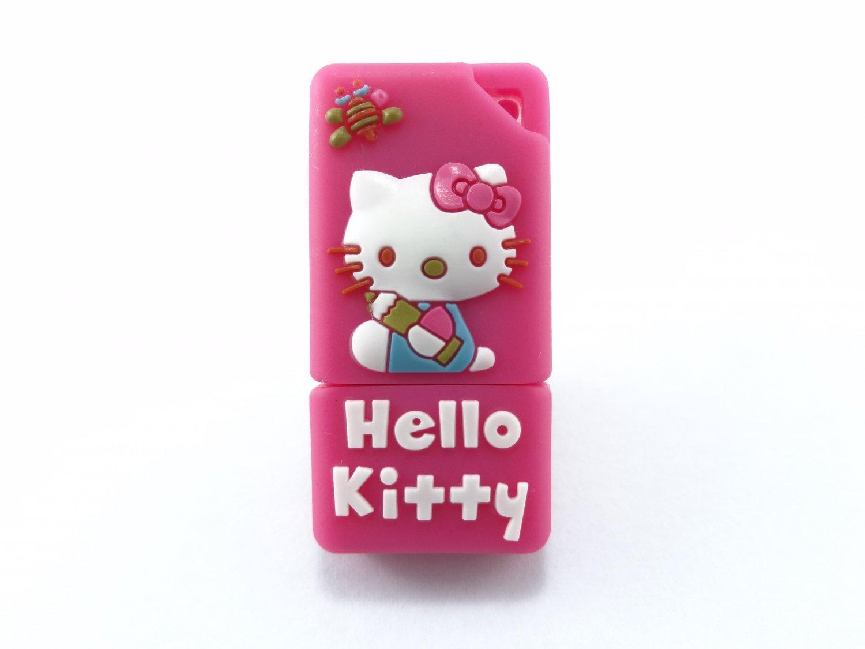 Pink Hello Kitty 4GB USB Flash Drive Memory Drive Thumb Drive