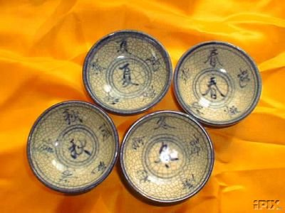 Chinese traditional season porcelain bowl