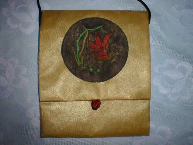 Mid size Chinese silk embroider bag