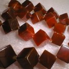 12mmX12mm square red agate necklace