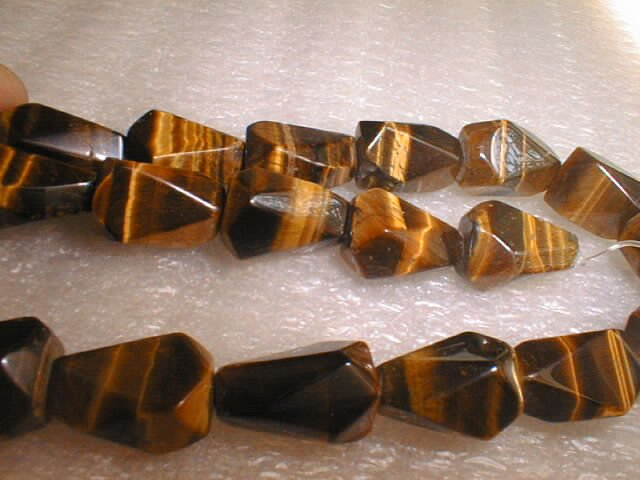 "18"""" tiger eye stone omphalos shape necklace"