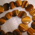 20mm big tiger eye stone flake beads/necklace