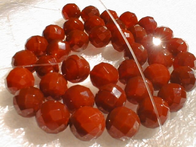 "18"""" length--10mm red agate beads/necklace"