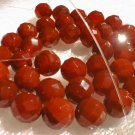 """18"""""""" length--10mm red agate beads/necklace"""