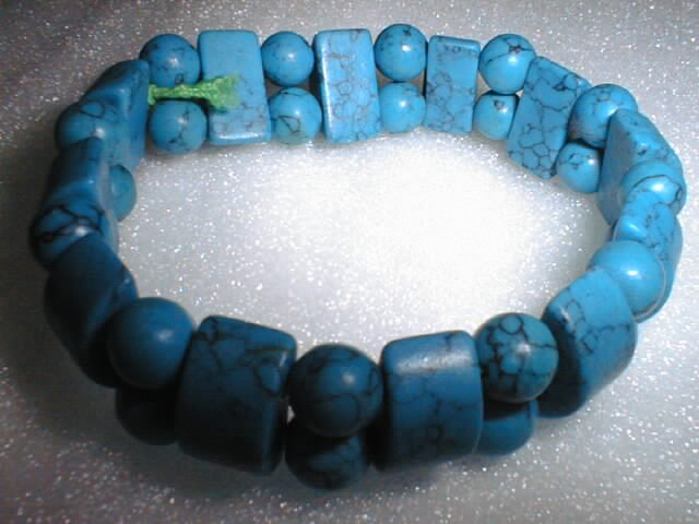 beatiful square&round turquoise bracelet