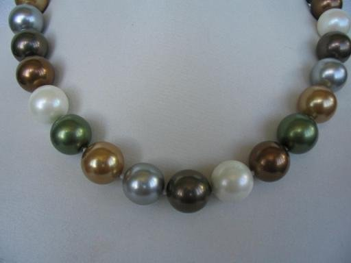 "18"""" 14mm Multicolor Seashell pearl necklace"
