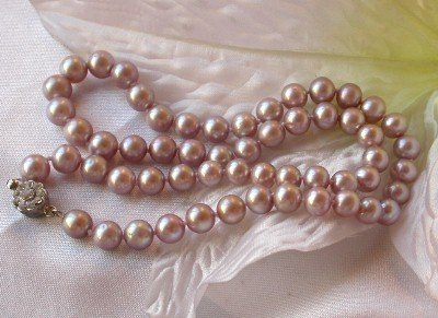 grade A 7-8mm pink pearl necklace