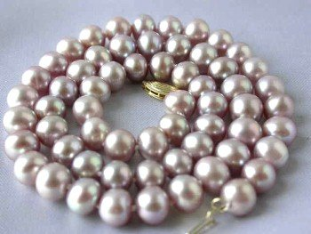 "14K 17"""" lavender FW pearl necklace"