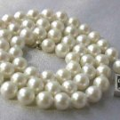 "18""""Grade AA 7-7.5mm cream sea pearl &silver clasp"