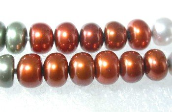 "46"""" lustrous 6-7mm multicolor pearl necklace"