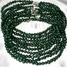 Wholesale 10 pcs 6-7mm green pearl necklace