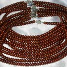 """Wholesale 5 pcs 16"""""""" 6-7mm coffee pearl necklace"""