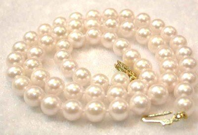 "17""""AA 6.5-7mm white sea pearl necklace"