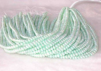 "wholesale 16"""" 6-7mm viridescence pearl necklace strings"