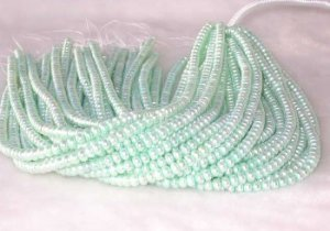 """wholesale 16"""""""" 6-7mm viridescence pearl necklace strings"""