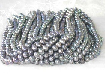 "wholesale 16"""" 8-9mm peacock pearl necklace strings"